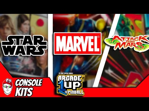 Arcade1up Reveals Game List for Star Wars, Marvel, and Attach From Mars from Console Kits
