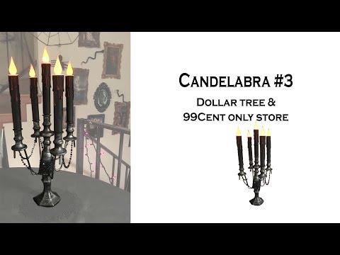 Halloween DIY / Candelabra 3 / Dollar Tree & 99cent Only Store