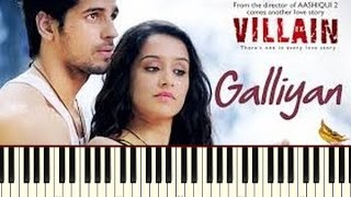 Galiyan (Ek Villain) Piano Tutorial ~ Piano Daddy