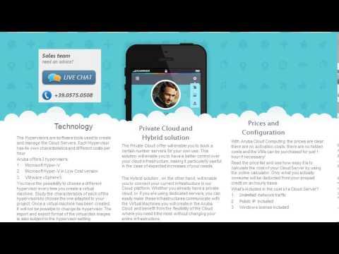 Aruba cloud computing - the best cloud computing company