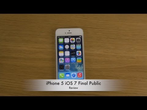 iPhone 5 iOS 7 Final Public - Review