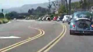 VW bugs cruisin down PCH in Los Angeles Cali