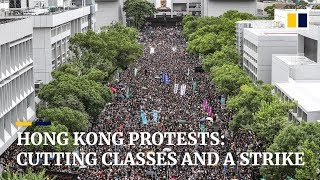 Hong Kong protests: cutting classes and a strike