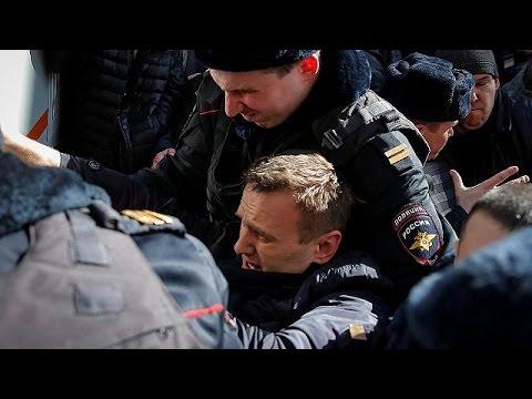 Navalny arrestato nel corso di una protesta nel centro di Mosca