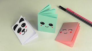 DIY Kawaii notebook of 1 sheet of paper | MINI OFFICE OF OWN HANDS