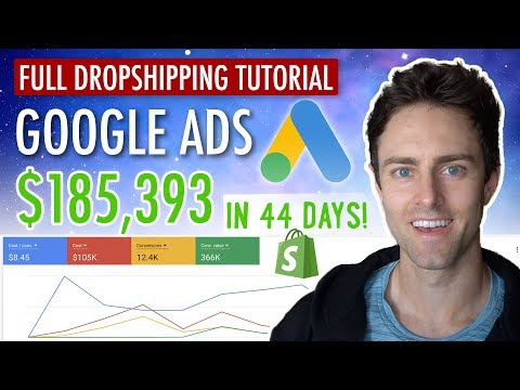 Google Ads for eCommerce & Shopify Dropshipping In 2019 [FULL TUTORIAL]   Shopping Ads + Text Ads thumbnail