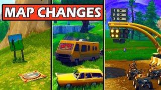 ALL *NEW* MAP CHANGES! DIRT TRACK & QUADCRASHER! Fortnite Update