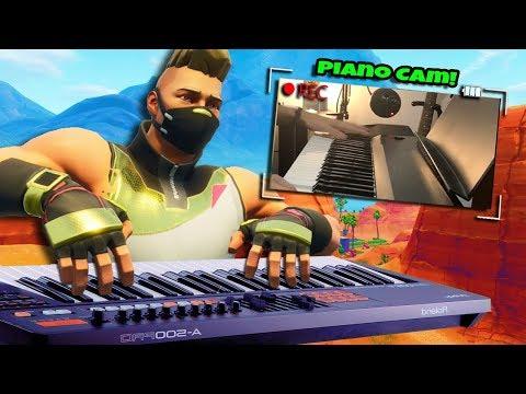 Piano Trolling On Fortnite W/Piano Cam!
