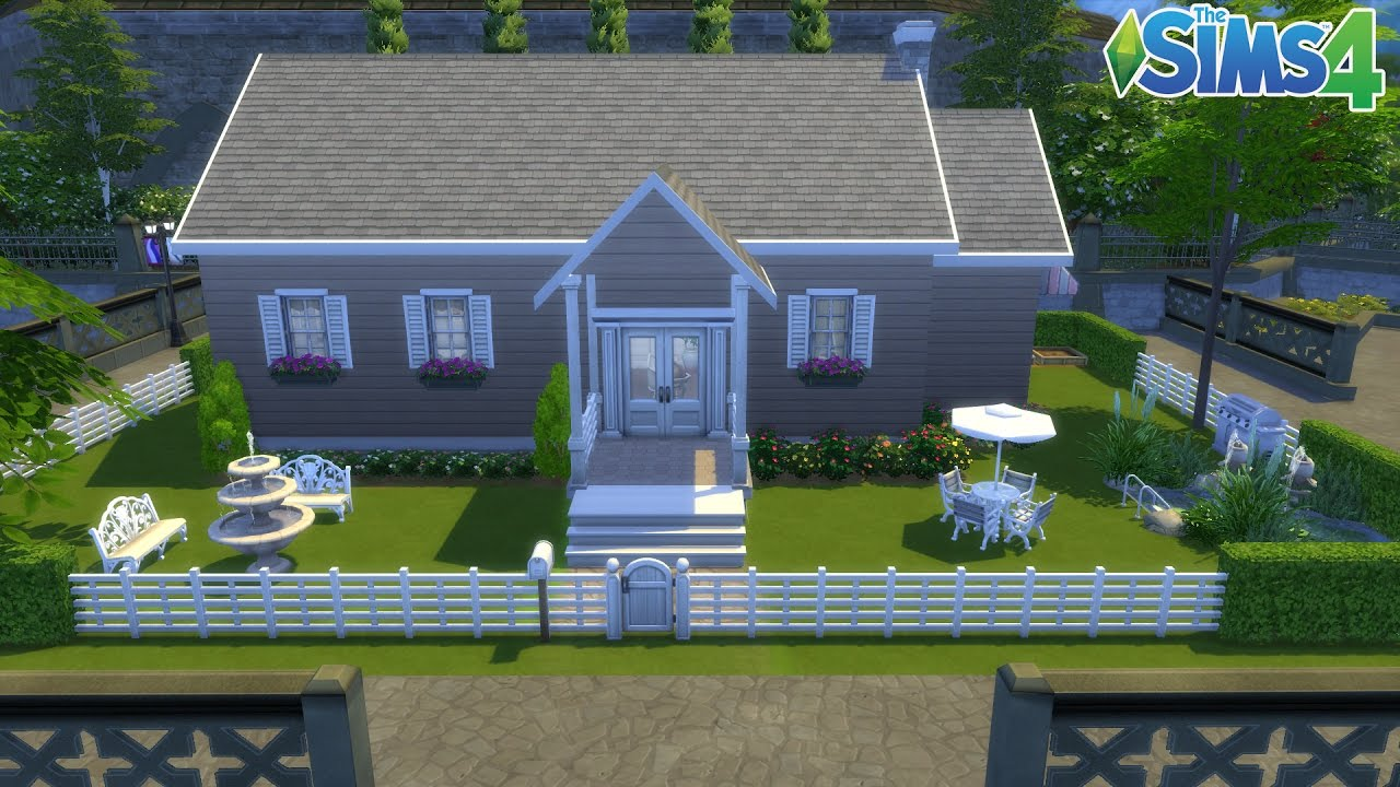 Les sims 4 maison simple 100 jeu de base - Jeu de construction de maison virtuel ...