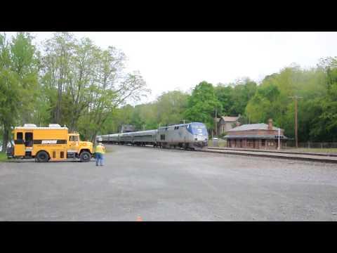 Amtrak heading for Albany Rensselaer Station in   2012