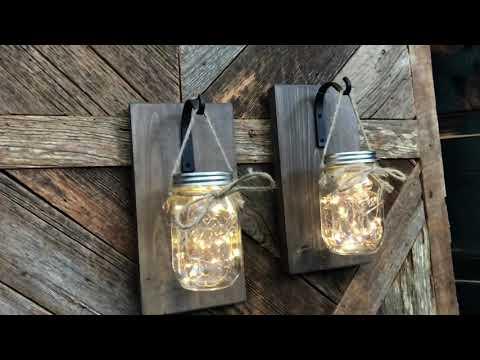 DIY Mason Jar Wall Sconce Lights or Lanterns by Farmhouse Forged