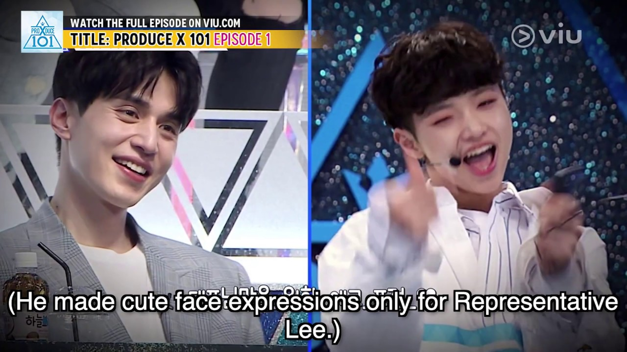 Lee Dong Wook Getting Hit On? (Produce X 101 EP 1 w/ Eng Subs)