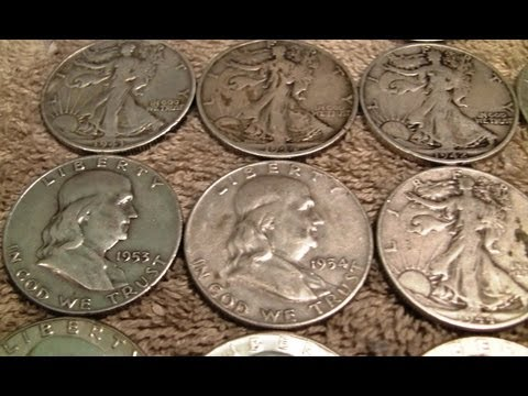 Silver Unboxing - US Silver Half Dollars