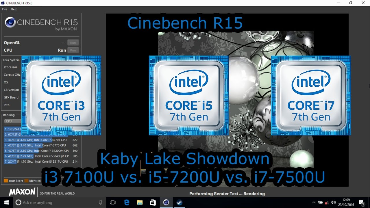 Kaby Lake Showdown Intel Core I3 7100u Vs I5 7200u Vs I7 7500u