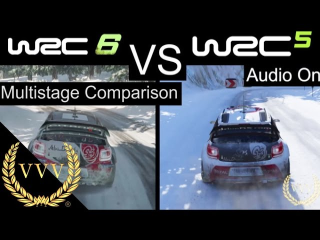 WRC 6 vs WRC 5 Multistage PS4 Comparison