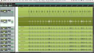 Reaper: Drums quantize with stretch markers