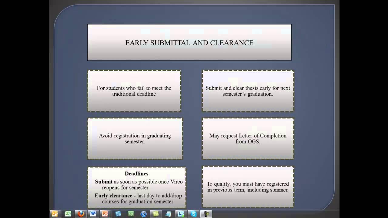 OGAPS - ETD Online Pre-Submittal Conference
