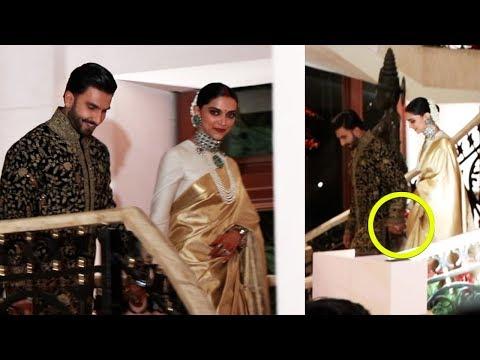 Ranveer Singh - Deepika Padukone's Royal Entry Hand In Hand At Bangalore Wedding Reception