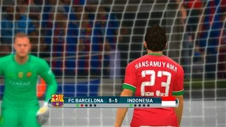 Barcelona vs Indonesia - PES 2017 Penalty Shootout