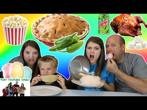 Thumbnail: Cotton Candy vs Real Food Switch Up / That YouTub3 Family