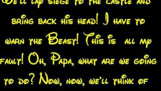 The Mob Song - Beauty And The Beast Lyrics HD