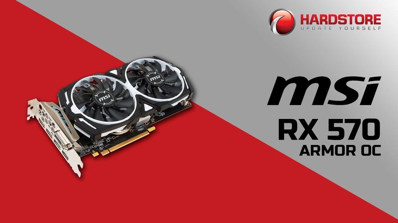 Placa de vídeo MSI Radeon RX 570 Armor OC 8GB [PT-BR]