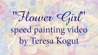 Flower Girl speed painting