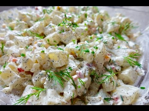 How to make potato salad without eggs or mayo