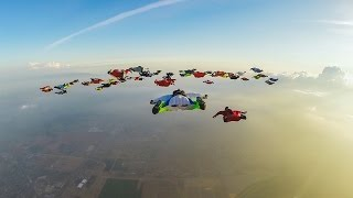 GoPro: 61 Wingsuiters Fly Together – A World Record