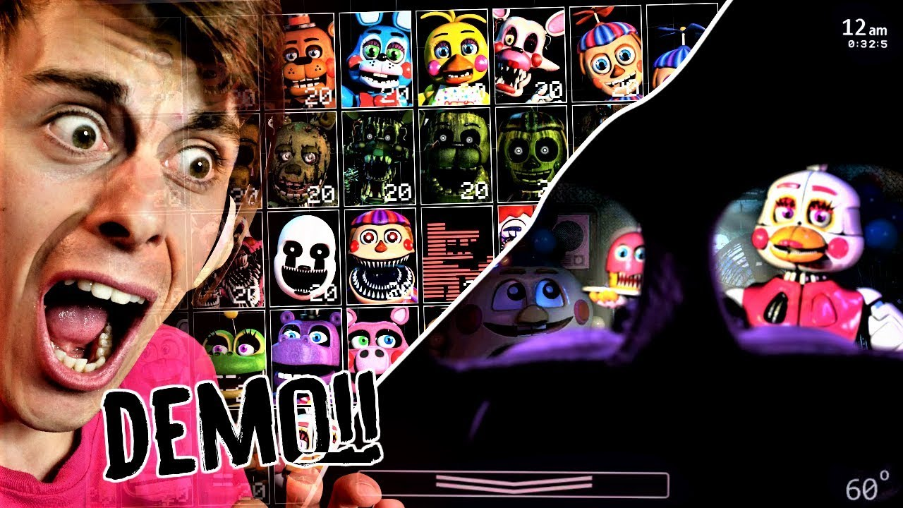 LETS GO 50/20 MODE  !? | FNaF Ultimate Custom Night DEMO gameplay (SCOTT'S  TROLL EDITION)