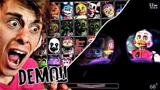 LETS GO 50/20 MODE..!? | FNaF Ultimate Custom Night DEMO gameplay