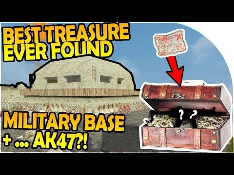 BEST TREASURE EVER FOUND - MILITARY BASE - AK47 INBOUND?!😱- 7 Days to Die Alpha 16 Gameplay Part 42