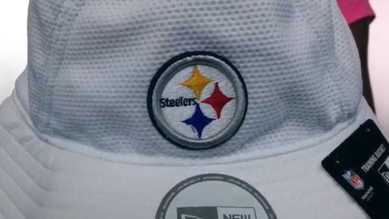 6eea75a22eb3f Steelers  2014 NFL TRAINING BUCKET  White Hat by New Era - YouTube