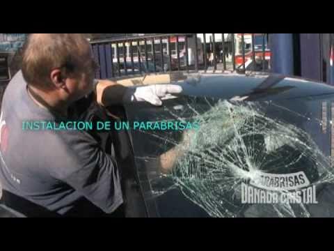 Instalaci 243 N De Un Parabrisas Danada Cristal Youtube