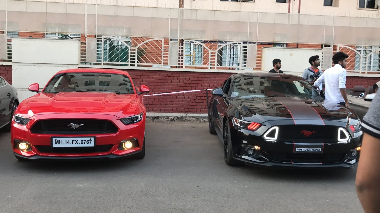 Supercars In India Ford Mustang Gt  In India Ford Mustang Gt Loud Exhaust