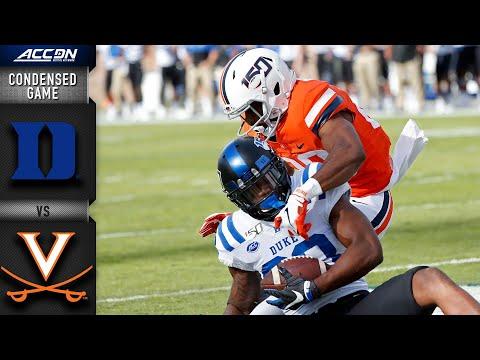 Duke Vs. Virginia Condensed Game | ACC Football 2019-20