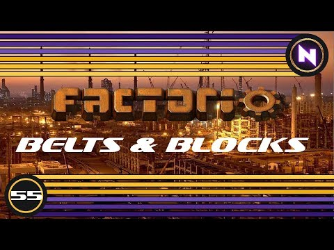 Factorio - Belts and Blocks - E55 - Beaconed High Tech and Oil