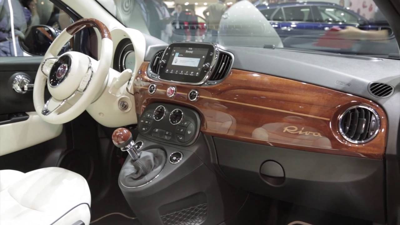 fiat 500c riva interior design trailer automototv youtube. Black Bedroom Furniture Sets. Home Design Ideas