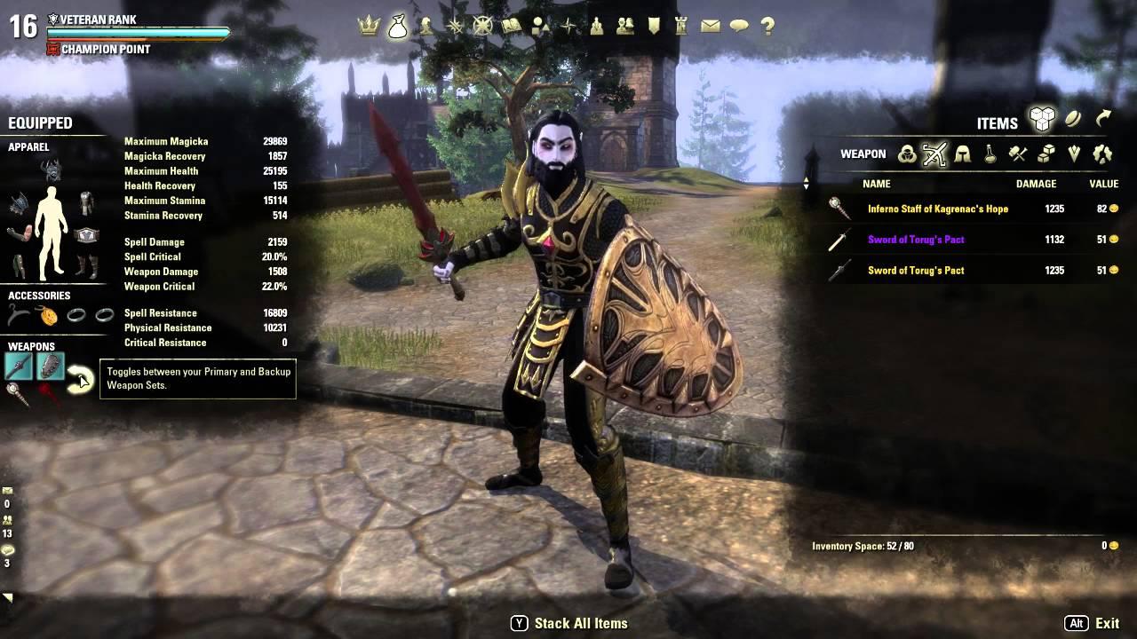 Magicka Templar Build Pvp
