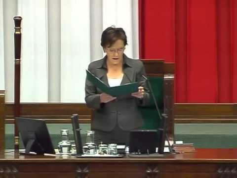 [5/189] Ewa Kopacz: Przystępujemy do rozpatrzenia punktu 24. porządku dziennego: Przedstawiony ...