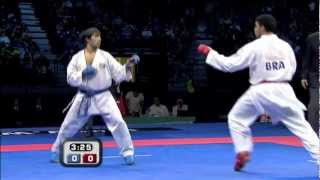 Shahin Atamov vs Wellington Rodrigues :: WKF Male Kumite Bronze Medal +84kg :: Belgrade 2010