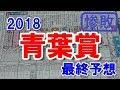 青葉賞 2018 最終予想