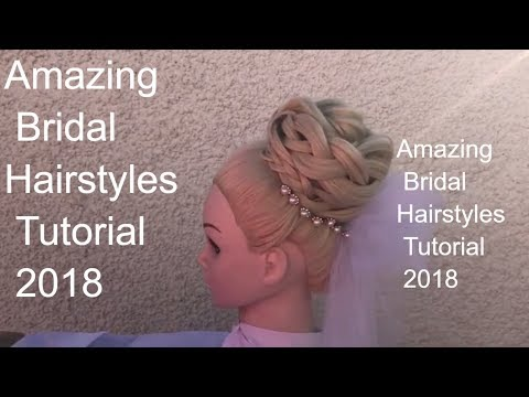wedding updo ,  Bridal Hairstyles Tutorial , long hairstyle