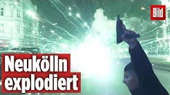 Kugelbomben-Böller explodiert in Neukölln | Silvester-Krieg in Berlin