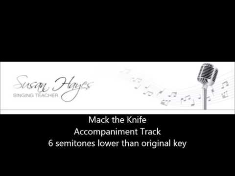 Mack the Knife - rehearsal track lower key