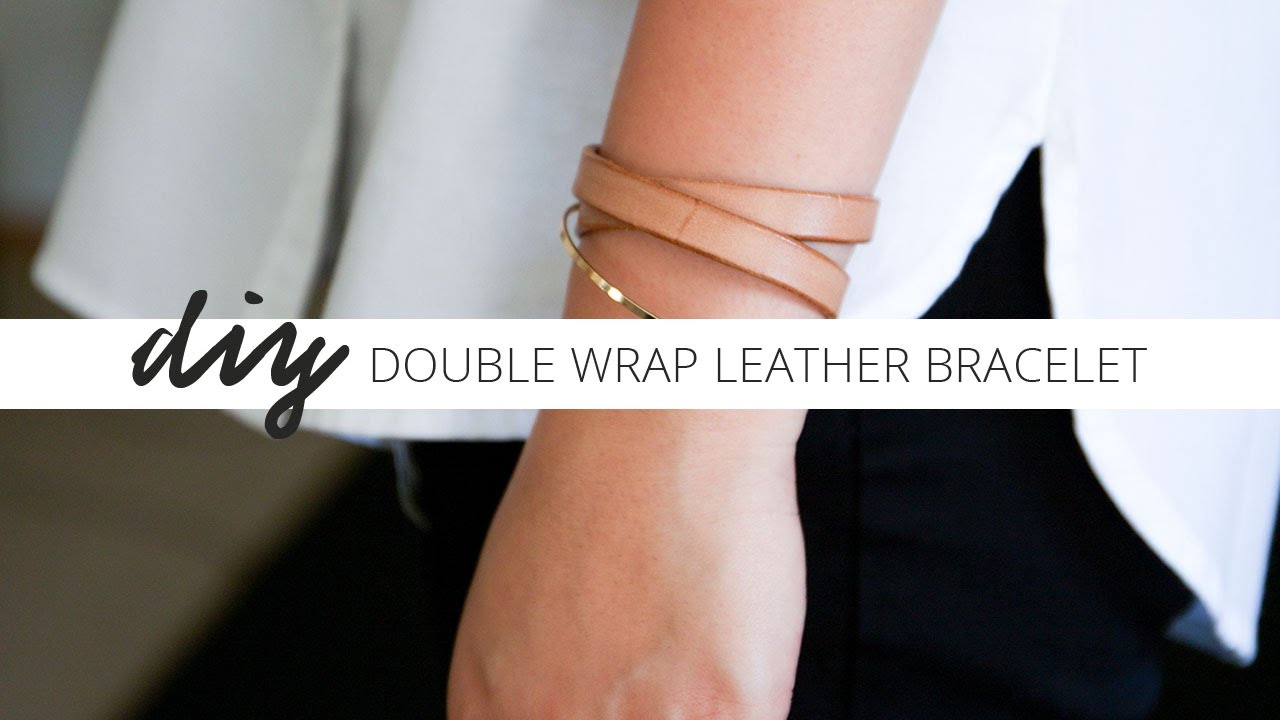 Diy Double Wrap Leather Bracelet With Template Cloth Story