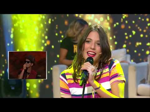 Flor Vigna, Nico Occhiato y Carla Quevedo jugaron a ser cantantes por un día