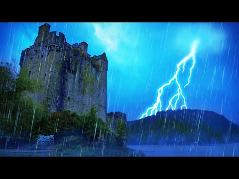Thunder And Rain Sounds For Sleeping ⚡ Storm White Noise 10 Hours