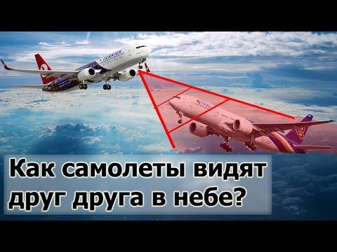Как самолеты видят друг друга в воздухе и не сталкиваются?