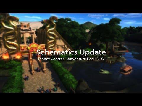 Schematics Update - Planet Coaster Adventure Pack DLC - First Look! |